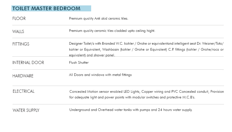T Homes Specification