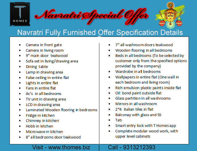 T homes Navratri offers